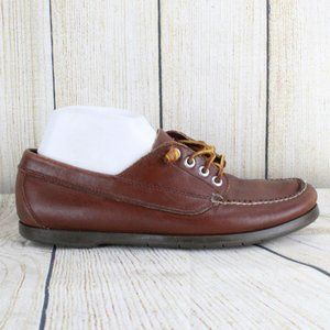 LL BEAN Classic Lace-up Loafer Duck Shoes Sz 9.5 D